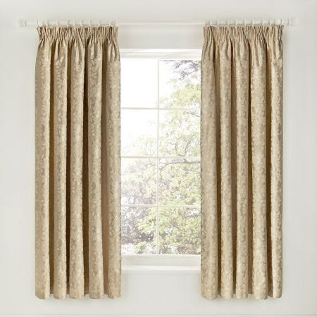Flora Gold Jacquard Curtains
