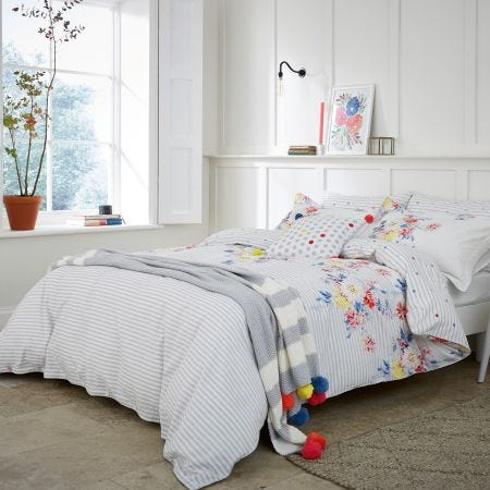 Harbour Floral Stripe Bedding