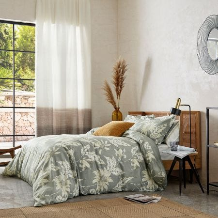 Ananda Grey Floral Bedding