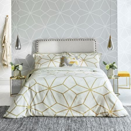Axal Ochre Geometric Bedding