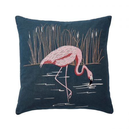 Coppice Peacock Cushion Front.