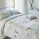 Cranes in Flight Silver Bedding