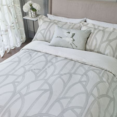 Meso Double Duvet Cover, Oyster