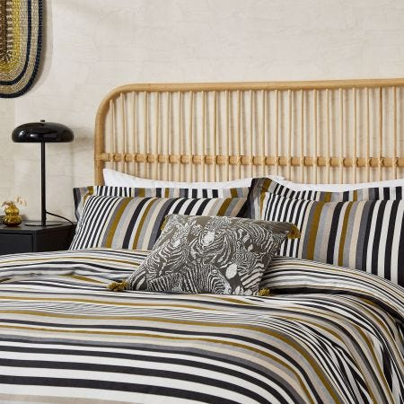 Rosita Double Duvet Cover, Charcoal