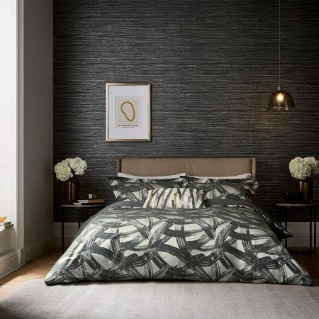 Typhonic Brushstroke  Bedding in Grey