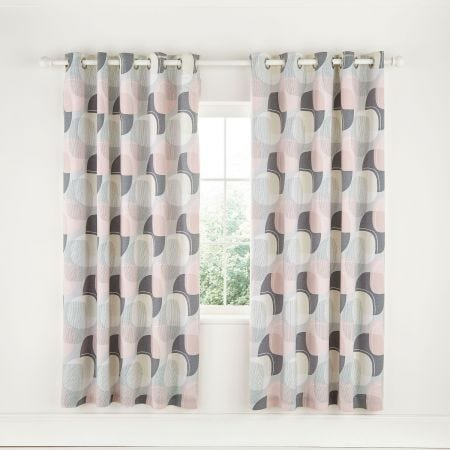 Arken Blush Lined Curtains.