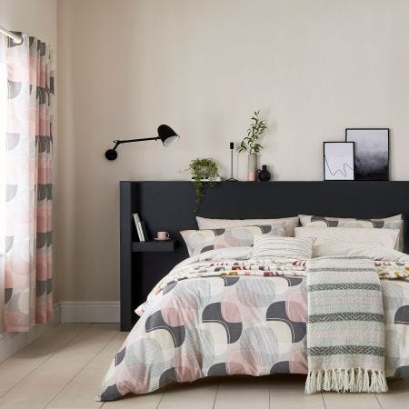 Arken Blush Pink & Grey Bedding
