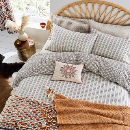 Casablanca Sahara Ticking Stripe Bedding