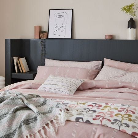 Chambray Blush Head of Bed.