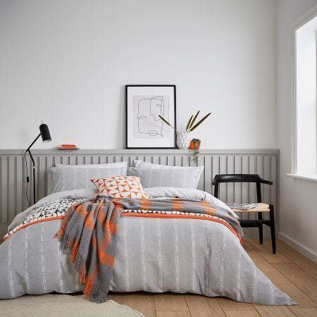 Chambray Grey Scandi Bedding