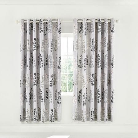"Dahl Lined Curtains 66"" x 72"", Mono"