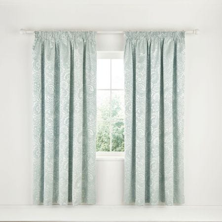 Klara Lined Curtains Aqua