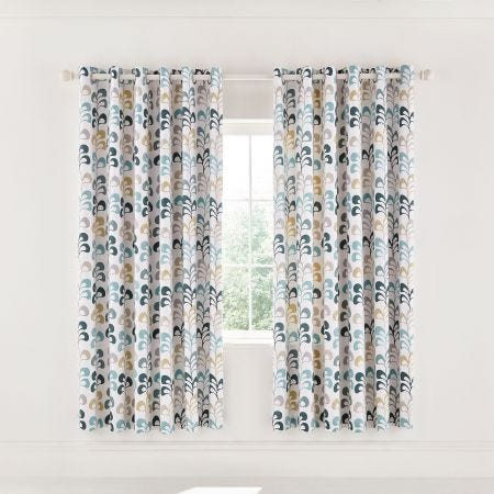 "Liv Lined Curtains 66"" x 72"", Teal"