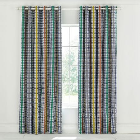 Menton Nautical Lined Curtains