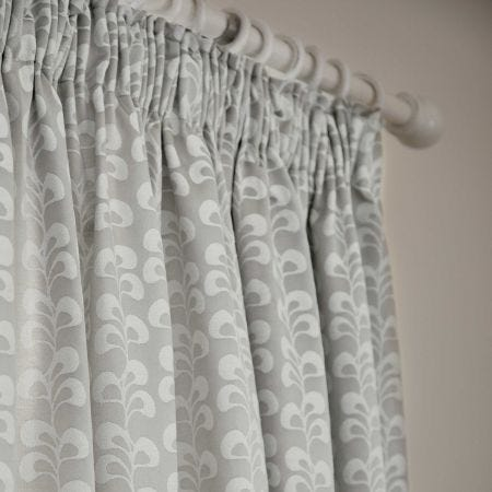 Mikkel Lined Curtains Silver
