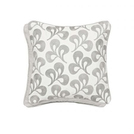 Mikkel Embroided Cushion Silver