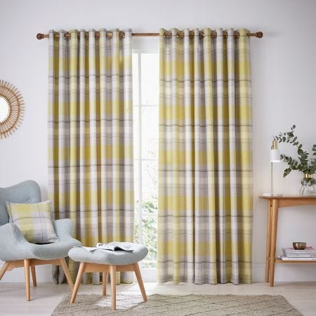 Nora Lined Curtains Chartreuse