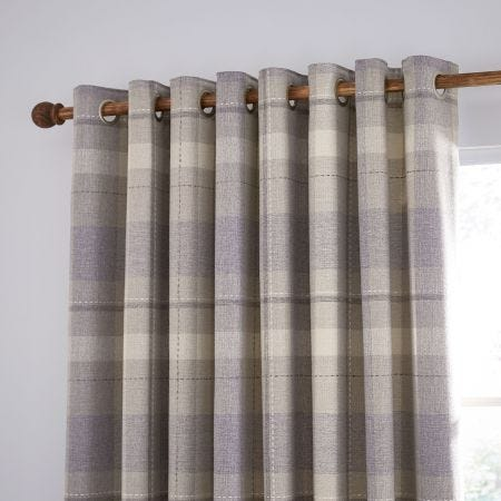 """Nora Lined Curtains 66"""" x 90"""", Grape"""