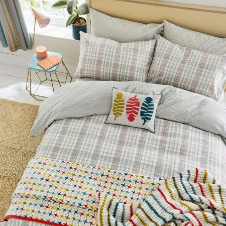 Kipling Brushed Cotton Check Bedding