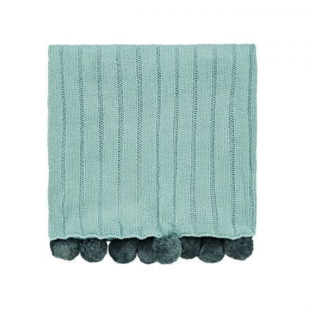 Liv/Tolka Knitted Throw, Teal