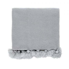 Tivoli Grey Knitted Throw.