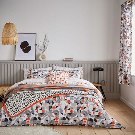 Tolka Grey & Orange Bedding