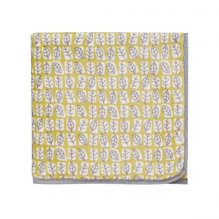 Unna Fleece Throw, Chartreuse