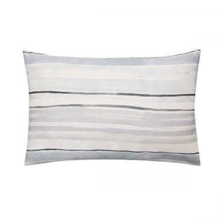 Linking Lines Pair of Housewife Pillowcases Mineral Grey