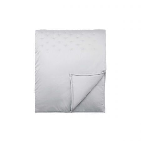 Stitched Quilted Throw, Mineral Grey