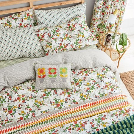 April Spring Green Floral Bedding