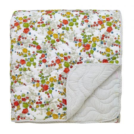 April Spring Green Quilted Throw