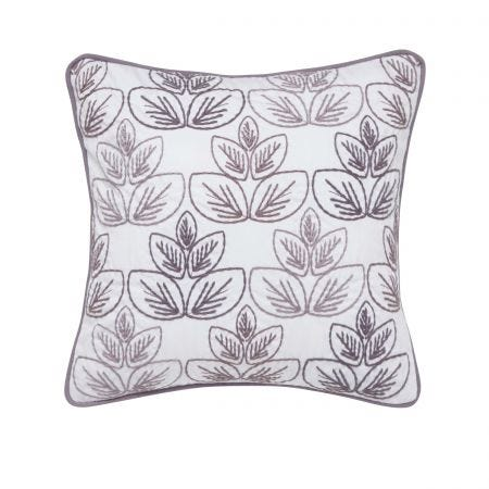 Avery Embroided Cushion Front Grape