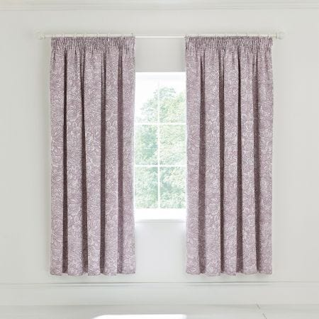 Avery Lined Curtains Grape