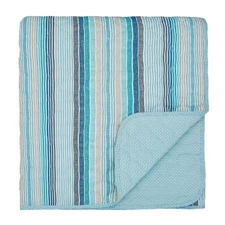 Helena Springfield Burton Quilted Throw, Coastal