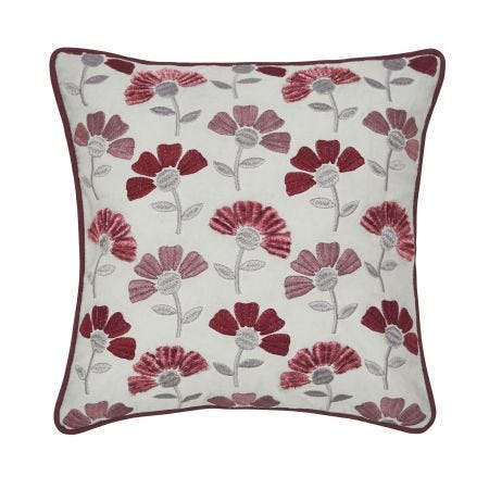 Cecila Embroided Cushion Front