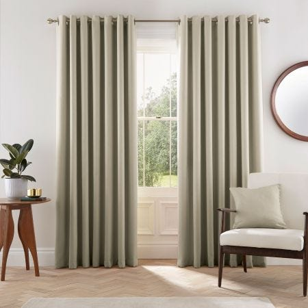 Eden Linen Curtain with White Lining