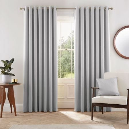 Eden Silver Curtains Set
