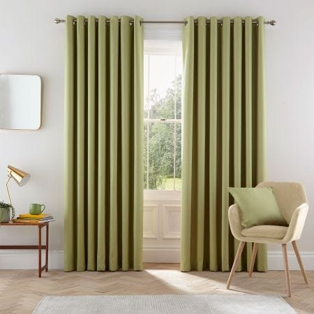 Eden Willow Green Curtains