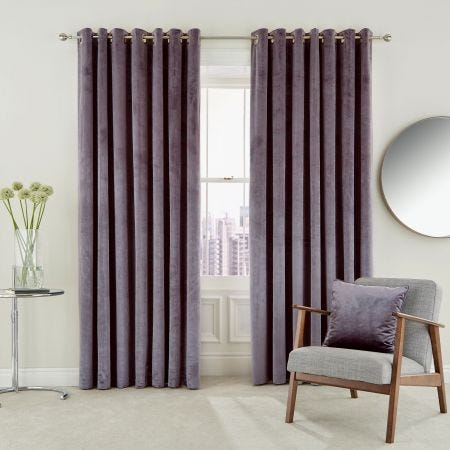 Escala Curtains, Damson