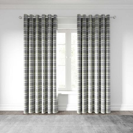 Harriet Curtains Chartreuse/Grey