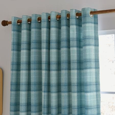 "Harriet Lined Curtains 90"" x 72"", Duck Egg"