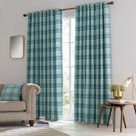 Harriet Lined Curtain Duck Egg