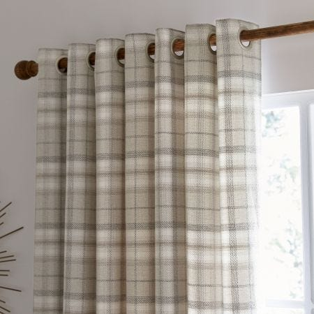 """Harriet Lined Curtains 66"""" x 90"""", Taupe"""