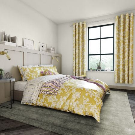 Honey Yellow Floral Bedding