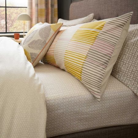 Cassia Fitted Sheet Cinnamon