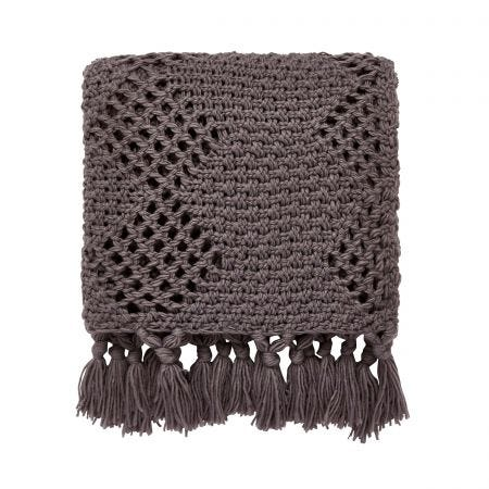 Anise/Peregrine Knitted Throw Charcoal