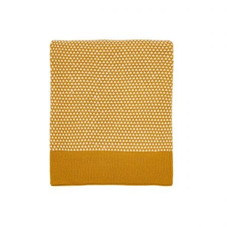 Cassia Knitted Throw Cinnamon