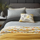 Woven Check Bedding Charcoal
