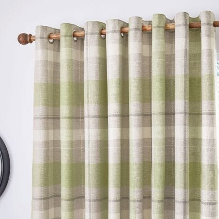 """Nora Lined Curtains 66"""" x 54"""", Willow"""