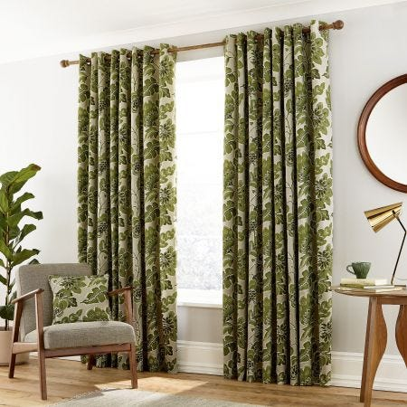 Paloma Lined Curtains in Willow